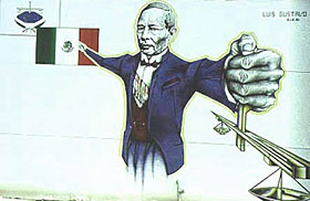 Mexico celebrates the birthday of benito ju rez for Benito juarez mural