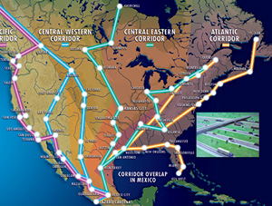 Nafta highway or new silk road this map is a conceptualization of the super highways now underway to connect the united states canada and mexico to help bring about the creation of a sciox Images