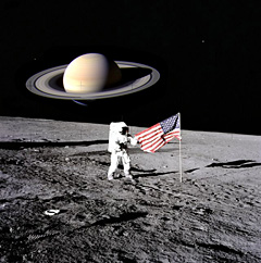 neil armstrong stepping on the moon - photo #23