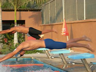 Competitive Swimming In Puerto Vallarta At Colegio Mexico Americano School