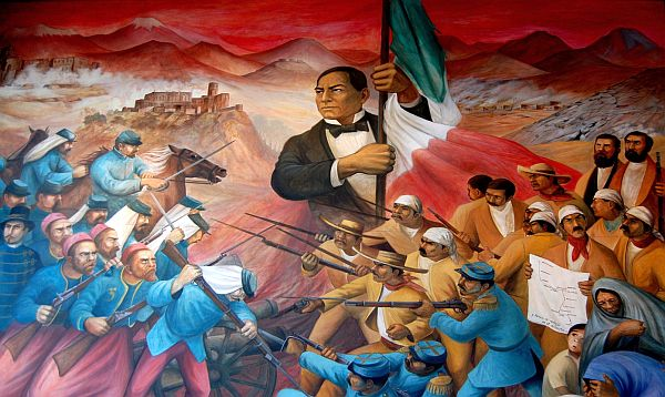 March 17 a mexican holiday celebrating benito juarez for Benito juarez mural