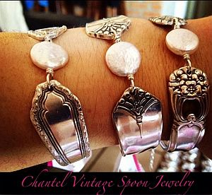 chantel vintage spoon jewelry at vallarta old town farmers