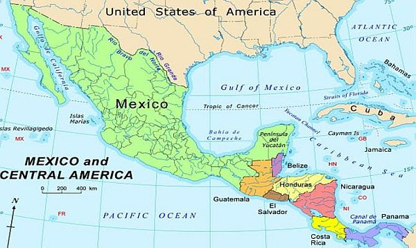 Honduras Mexico Map.Mexico Us Promote Prosperity And Security In Central America